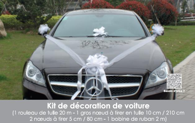 tulle deco voiture mariage location auto clermont. Black Bedroom Furniture Sets. Home Design Ideas
