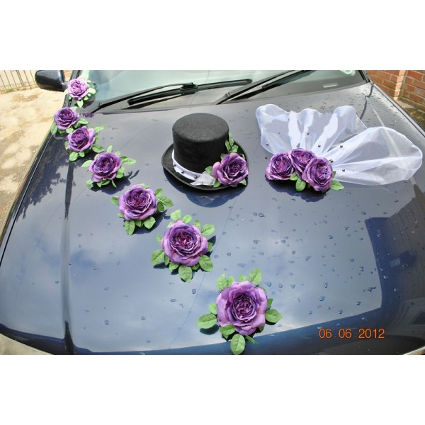 d coration florale voiture mariage prix location auto clermont. Black Bedroom Furniture Sets. Home Design Ideas